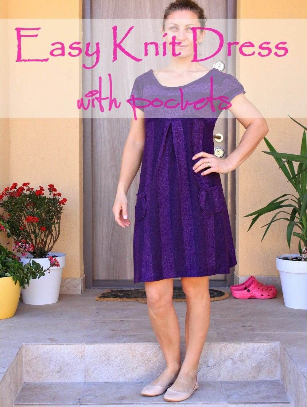 Easy Knit Dress With Pockets | Sewing patterns, Patterns and Sew pattern