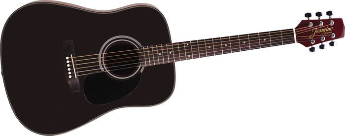 Click Image Above To Buy Jasmine By Takamine S341 Dreadnought Acoustic Guitar With Case Black