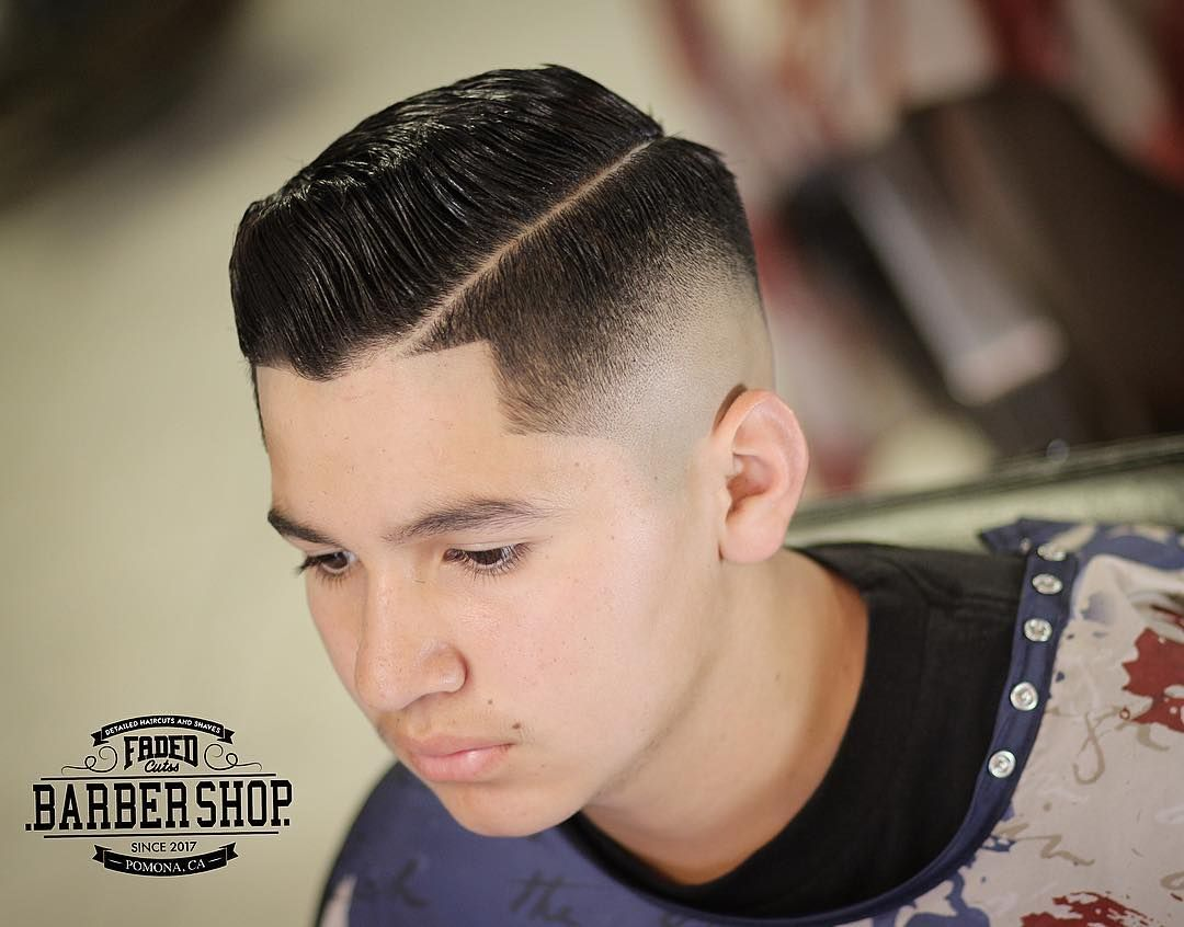 Zero Fade With Side Part Haircuts For Men Crispy Hard Part