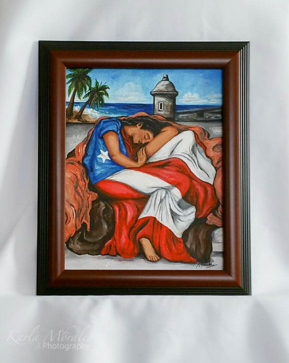 a00926cba9f Puerto Rican Flag Flaming June by ArtesaniasCalichi on Etsy