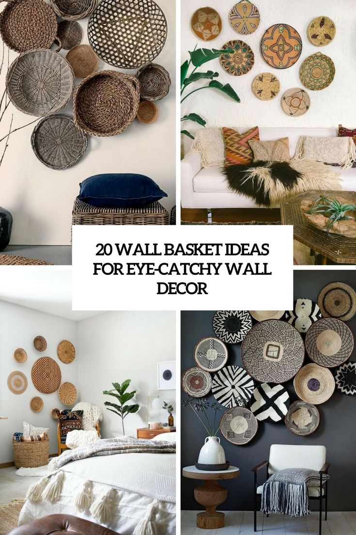 wall basket ideas for eye catchy wall decor cover  Home decor