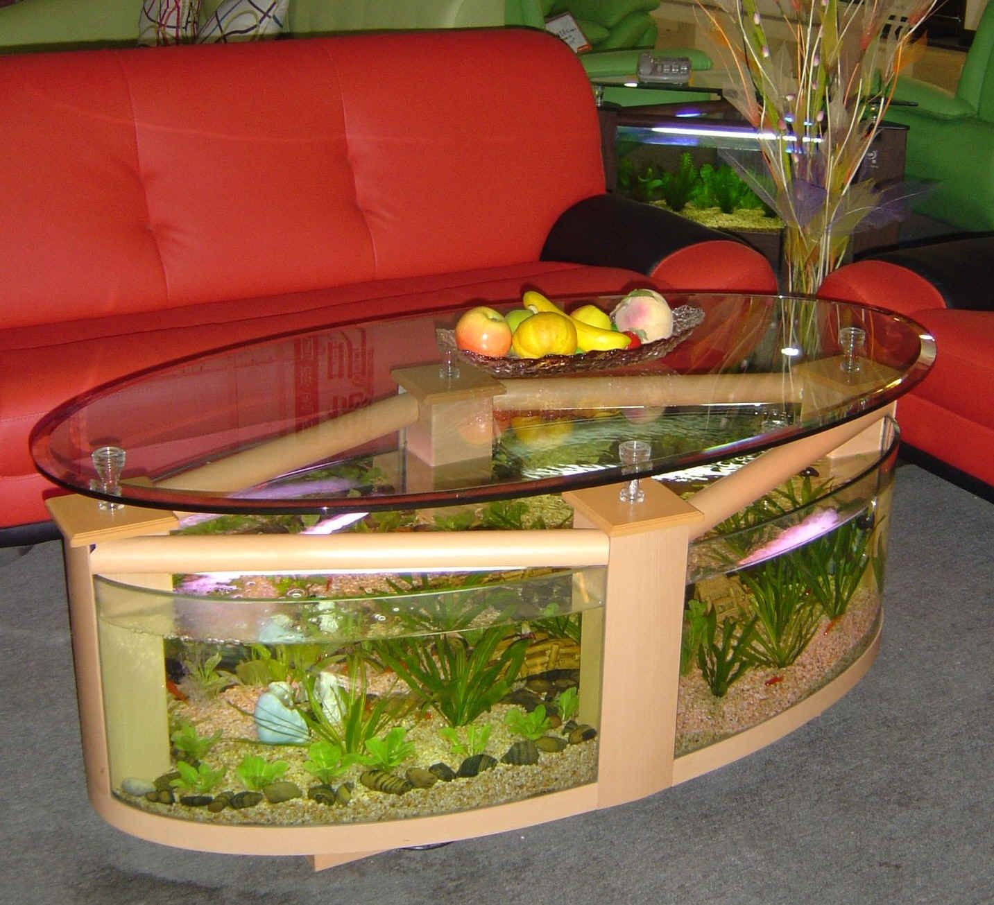 Fish tank living room table - We Manufacture Aquarium Coffee Tables That Is Fish Ready The Whole Combo Includes Filtration Lighting Pumps And Heater It S Even Equipped With Rollers