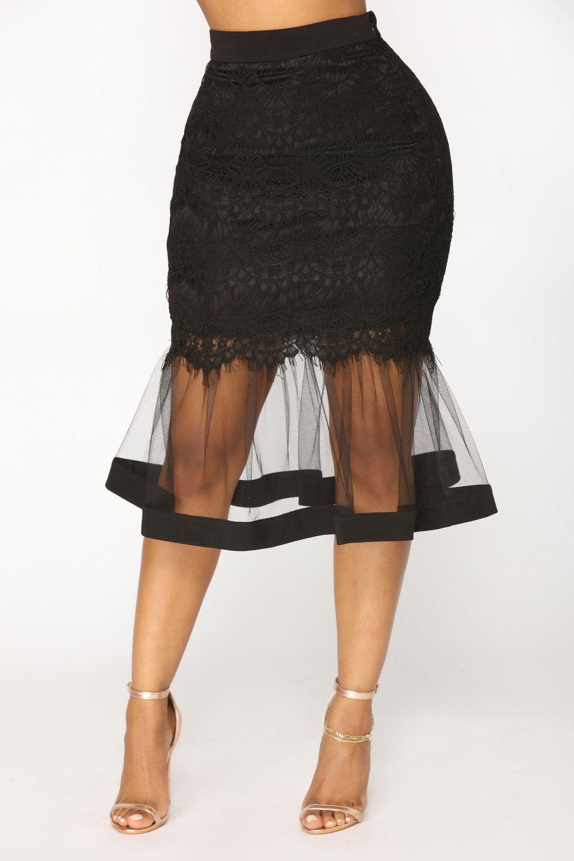 bd12444928 Plenty Of Fish In The Sea Midi Skirt - Black | clothes → bottoms ...