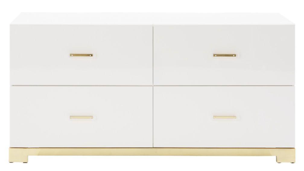 Odessa Low White Gloss Dresser Modern Dresser Dresser Dressers