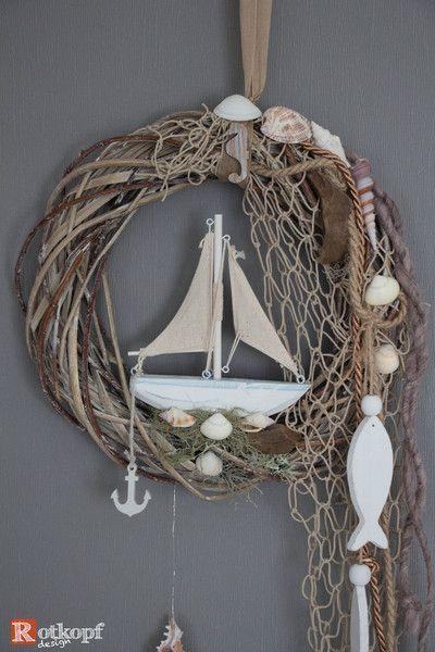 """Photo of Door wreaths – door wreath summer """"Maritim"""" 4 – a desi – garden design ideas"""