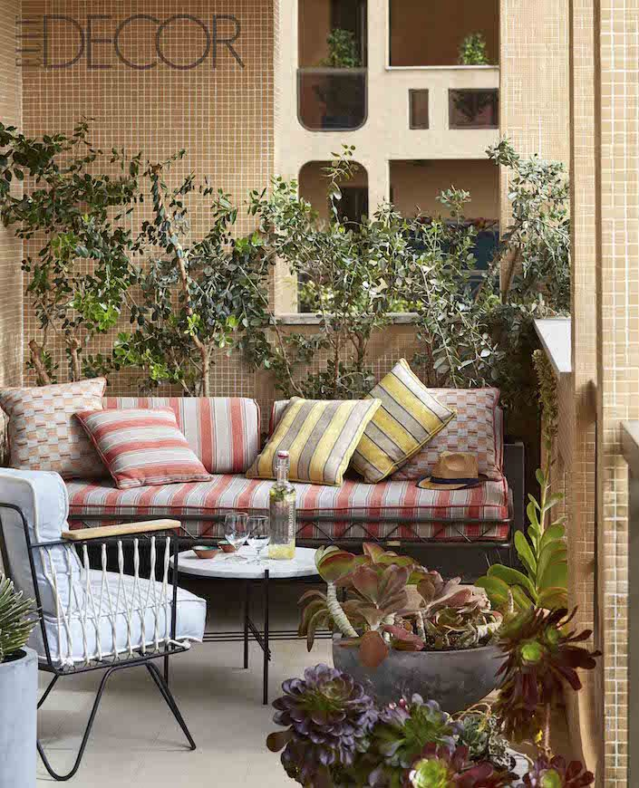 ELLE DECOR 2017 Global Style issue Monte Carlo terrace by Humbert ...