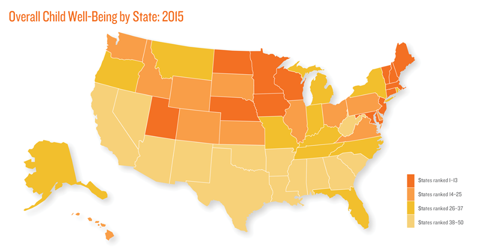 MN at one end, MS at the other See how your state ranks