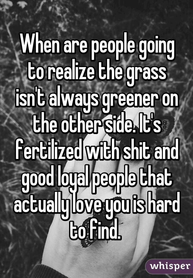 Dating grass is always greener