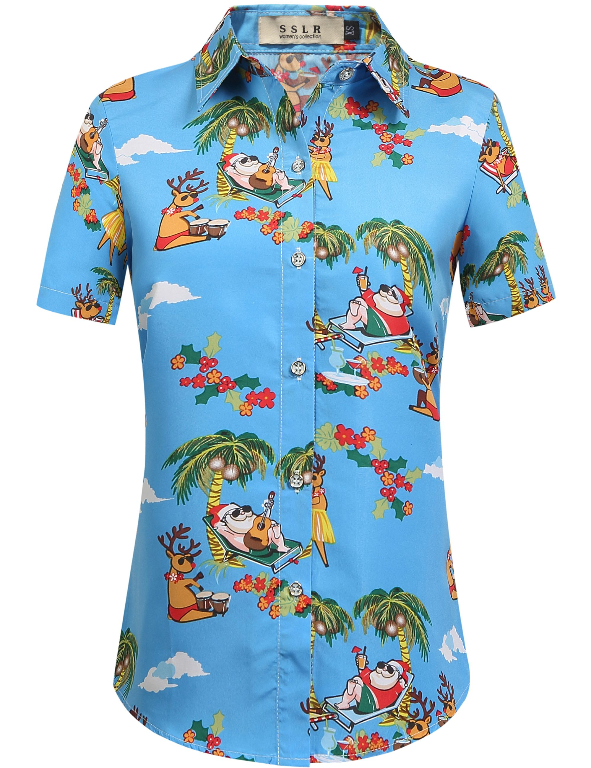 ef6de071 Women's Tropical Party Hawaiian Christmas Shirt #tropical #hawaiian # christmas #shirt
