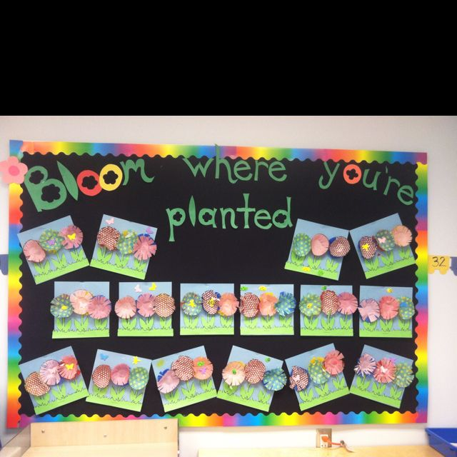 Featured 5 Spring Projects: 'Bloom Where You're Planted' Spring Bulletin Board