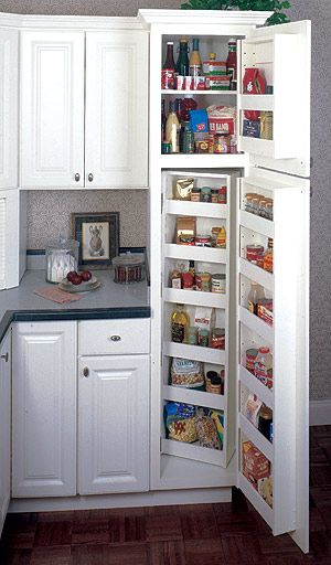 I Need A Pantry And My Kitchen Is Small I Think This Would Be A Great Idea Kitchen Pantry Cabinets Small Kitchen Pantry Small Space Kitchen