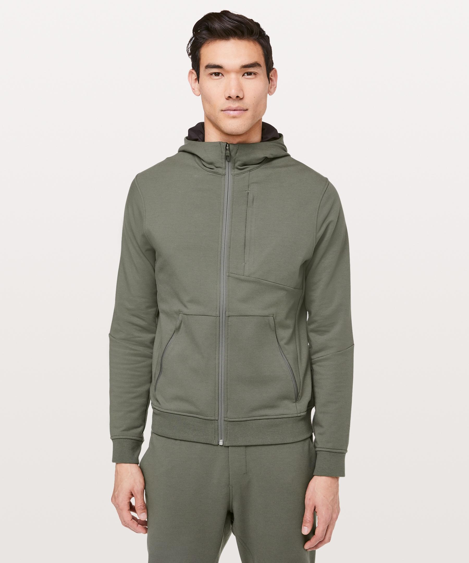 Lululemon Men S City Sweat Zip Hoodie Grey Sage Size Xs Mens Sweatshirts Hoodie Mens Workout Clothes Hoodies Men