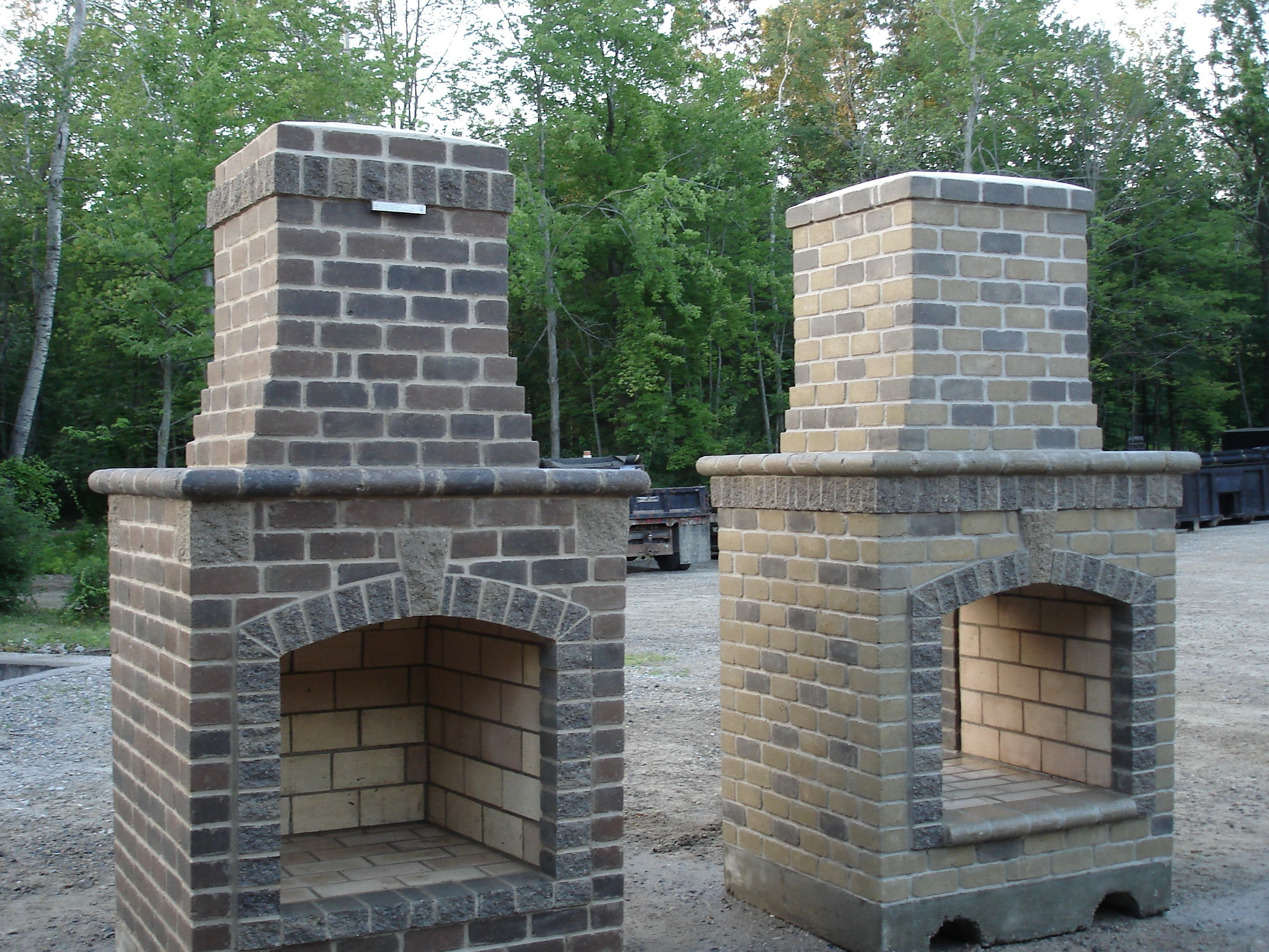 Magnificent Outdoor Brick Fireplace Diy Home Design Ideas Luray Home Interior And Landscaping Palasignezvosmurscom