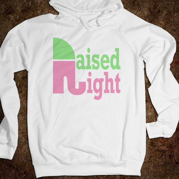 Raised Right V-neck (Pink and green)