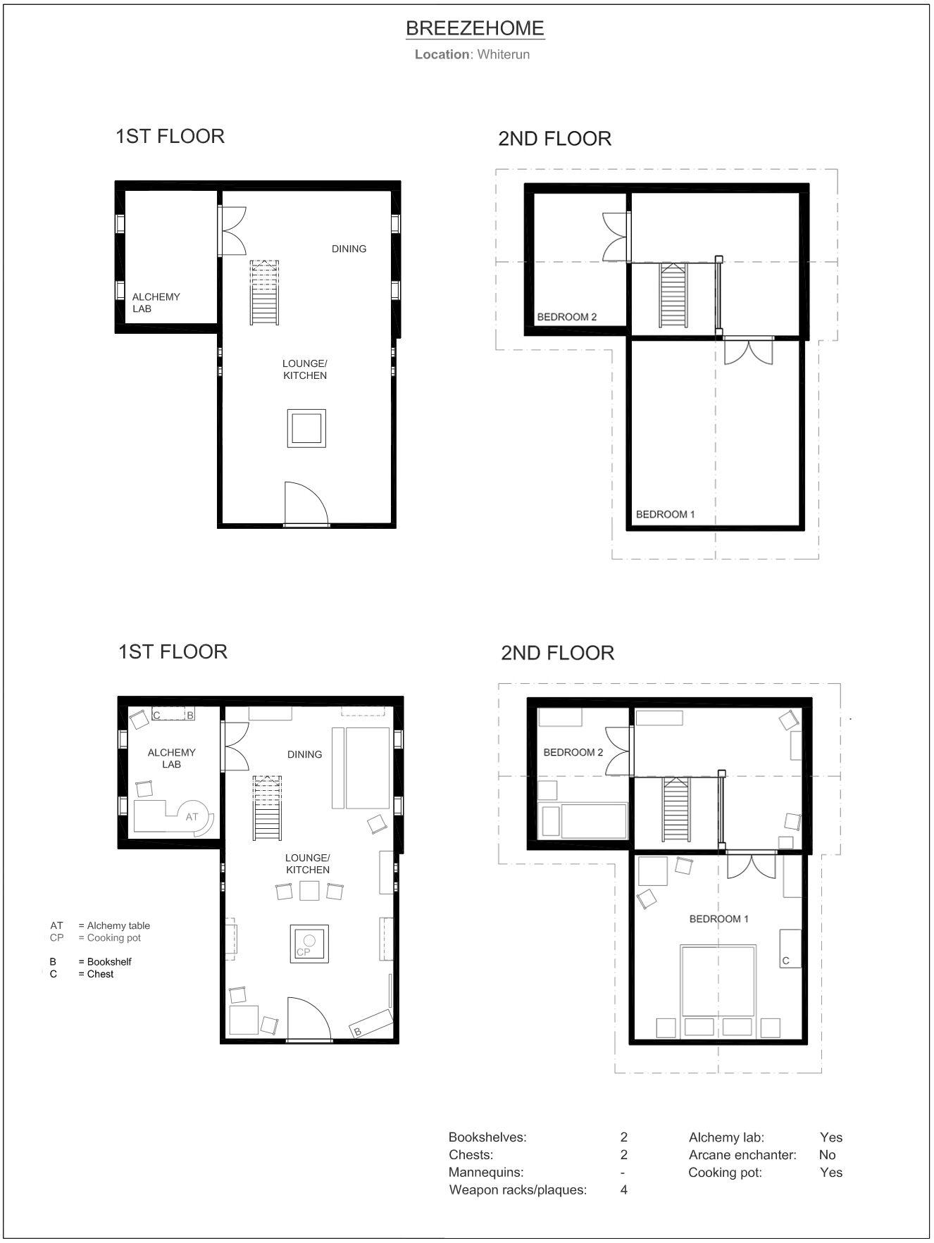 Breezehome floor plan Skyrim by neonspider on DeviantArt