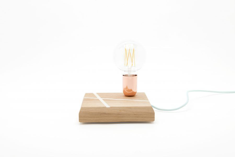 Lamp on Wood