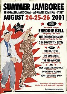 Summer Jamboree 2001 ... in the rockin town of Senigallia (Italy)  ... SECOND EDITION ... Official Event Poster