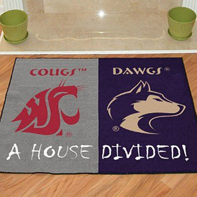 Washington Washington State House Divided Sports Rug Atgstores Wsu Uw Applecup House Divided Sports Rug Washington State