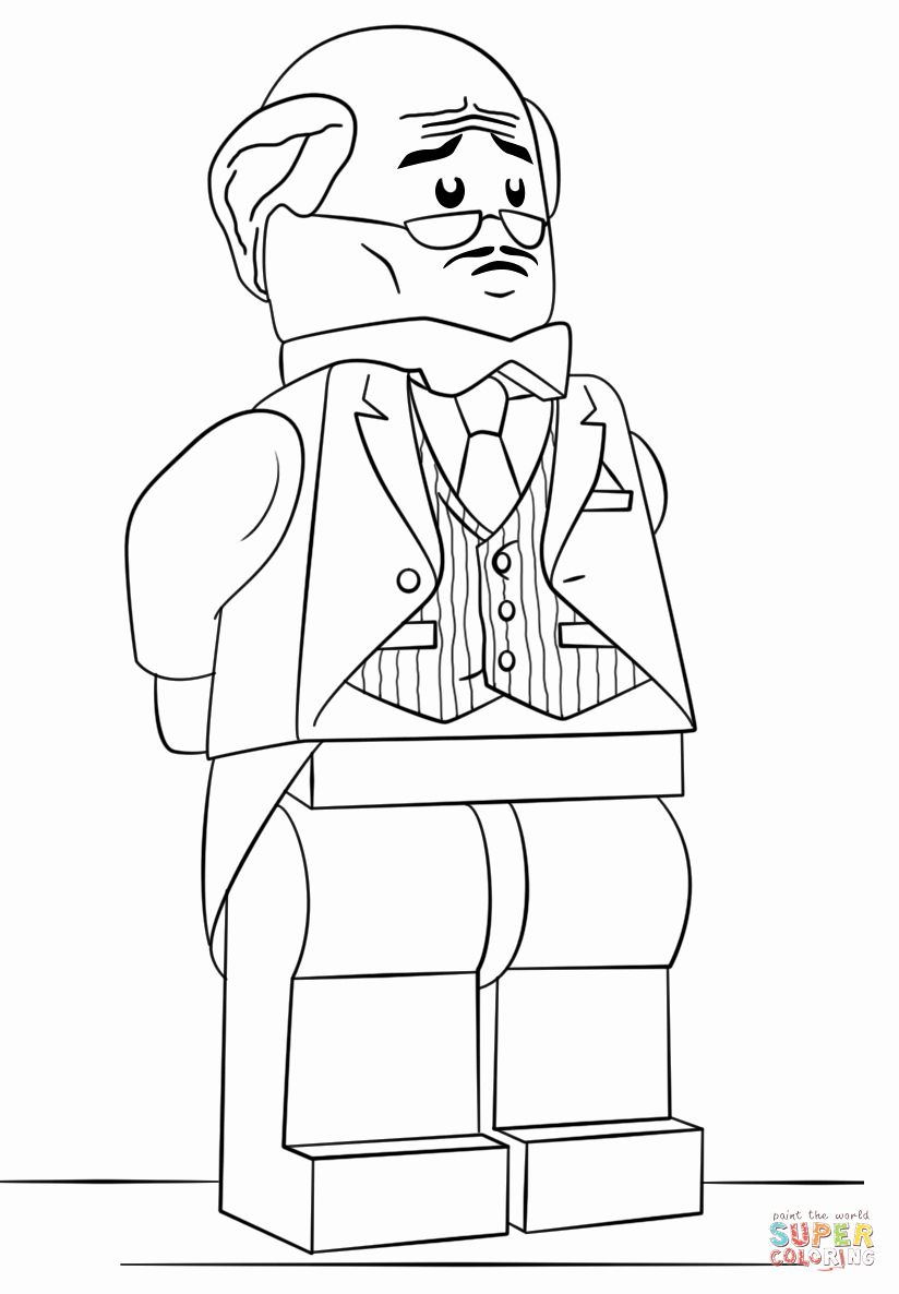 Lego Joker Coloring Page Beautiful Lego Alfred Pennyworth