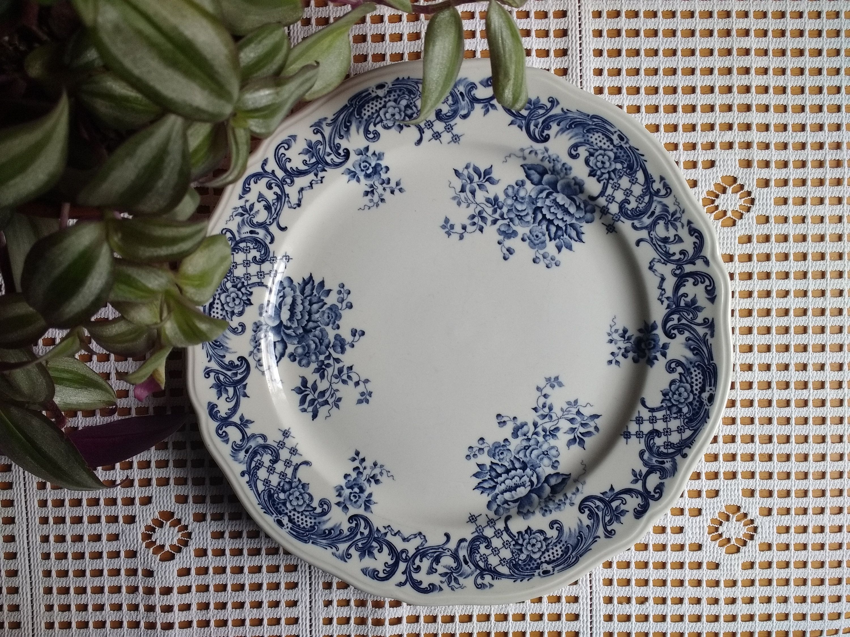 Villeroy Boch Blue Valeria Dinner Plate Classic And Elegant Vintage Design By Bluefirediamond On Etsy Villeroy Boch Dinner Plates Plates
