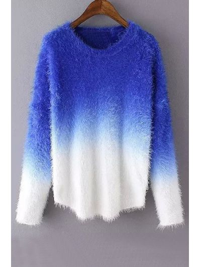 Ombre Mohair Long Sleeve Sweater | Blue sweaters, Ombre and Sapphire