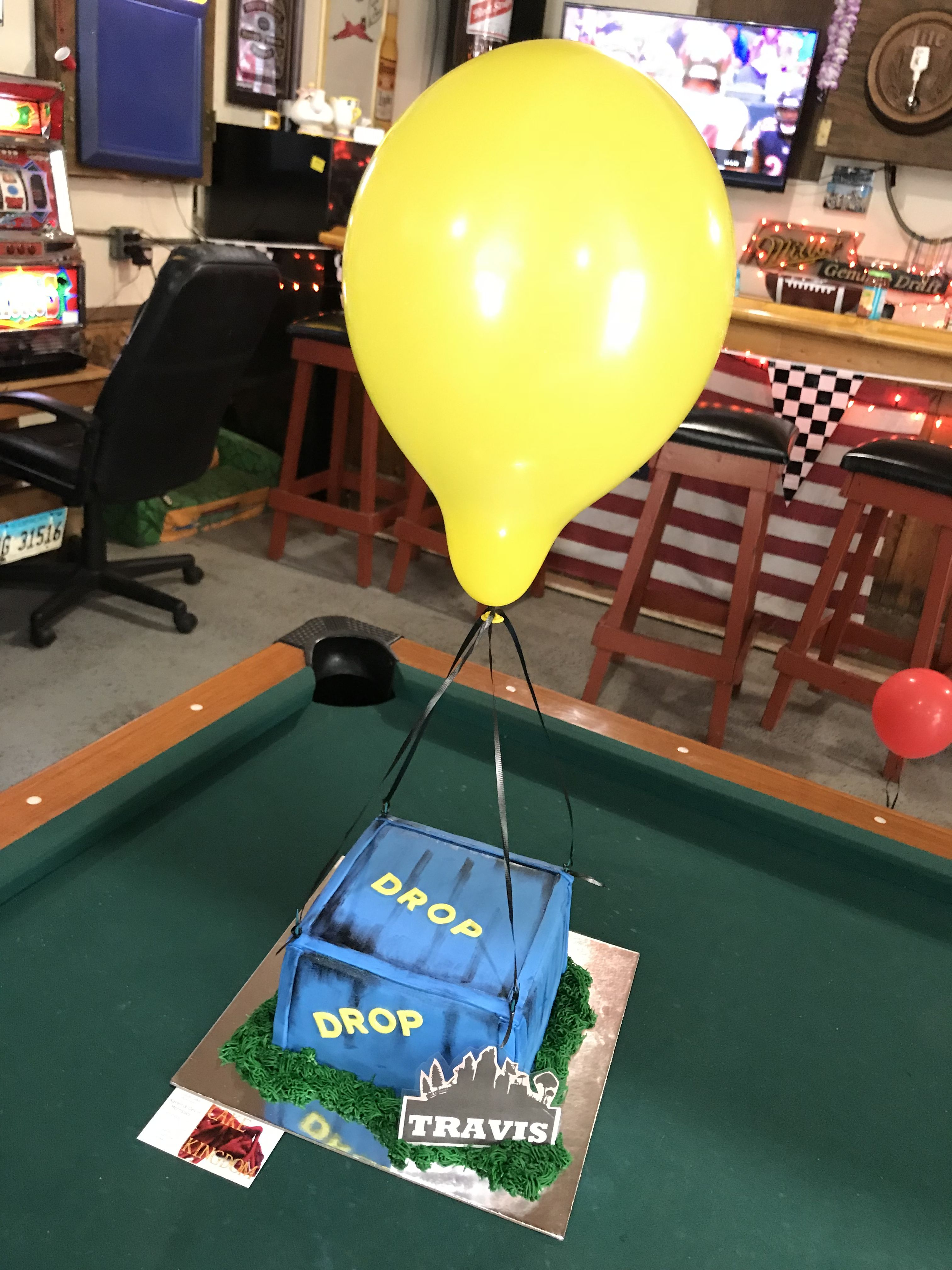 Fortnite Drop Box Cake Cakes In 2019 Birthday 8th Birthday