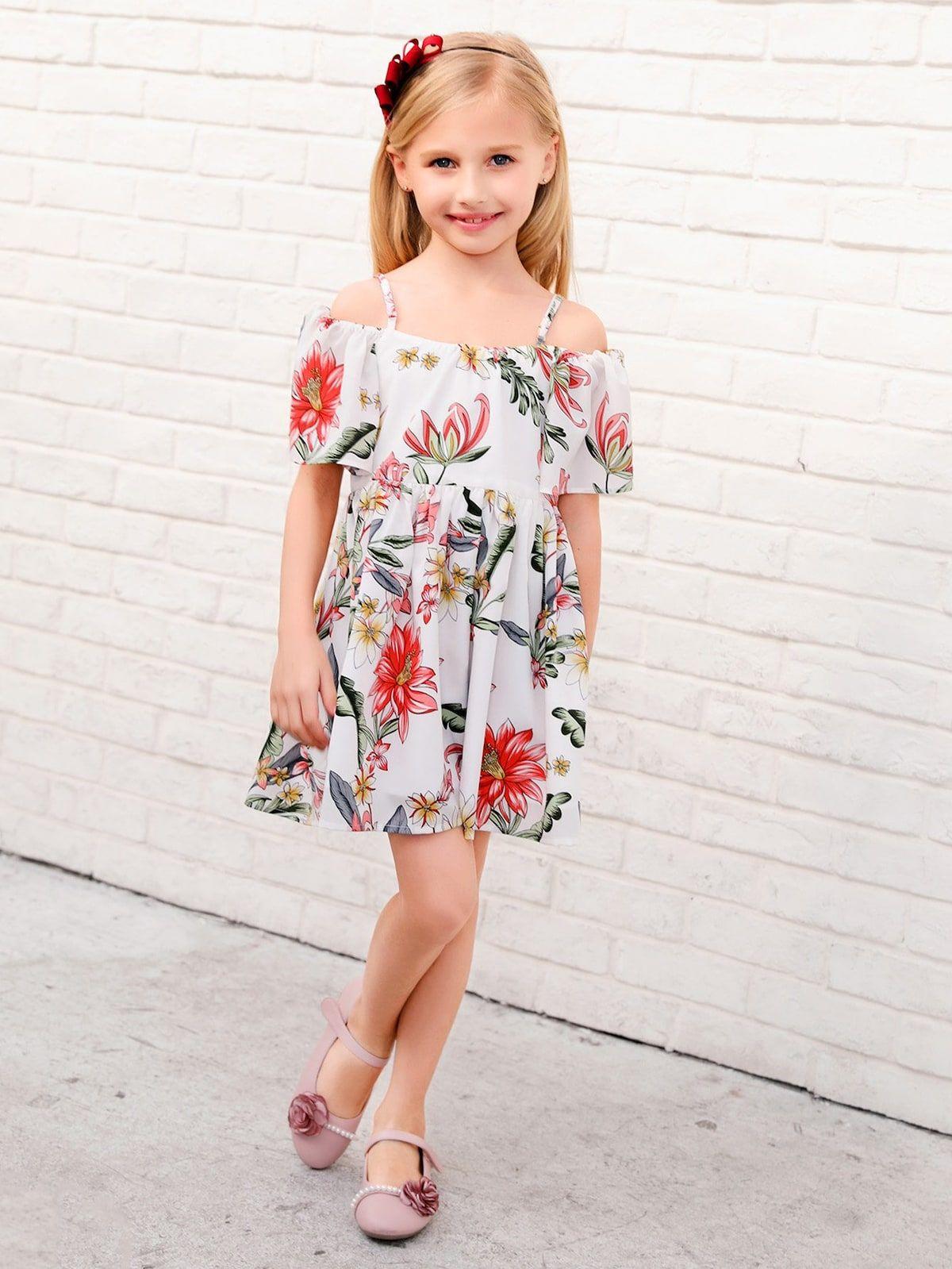 f546b57833a6 BUY 1 GET 1 99% OFF Toddler Girls Floral Print Cami Dress | Kids Outfit |  Girls Fashion | Toddler Dress | Floral Print Dress