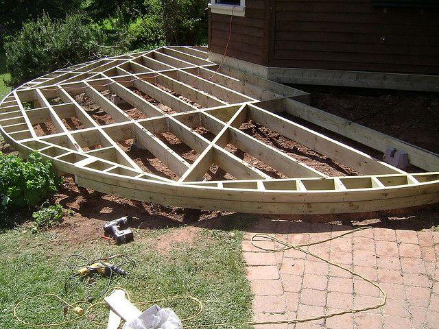 Round Deck Framing Deck Framing Diy Deck Building A Deck