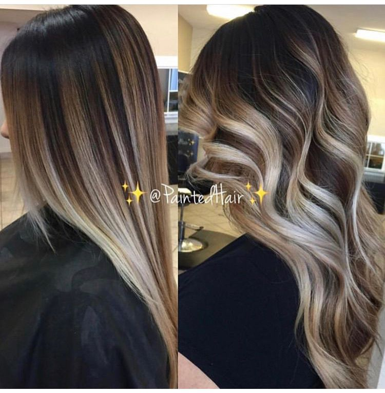Pin By Paige Bambach On Pricheski Balayage Straight Hair Brunette To Blonde Hair Styles
