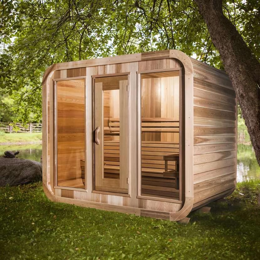Luna Outdoor Sauna In 2020 Outdoor Sauna Sauna Design Wood Sauna