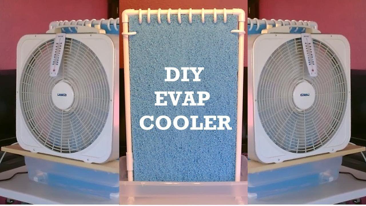 Homemade evap air cooler diy ac air cooler simple