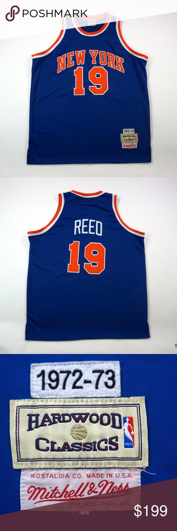 cheaper d58fa 73e16 New York Knicks Willis Reed Mitchell & Ness Jersey New York ...