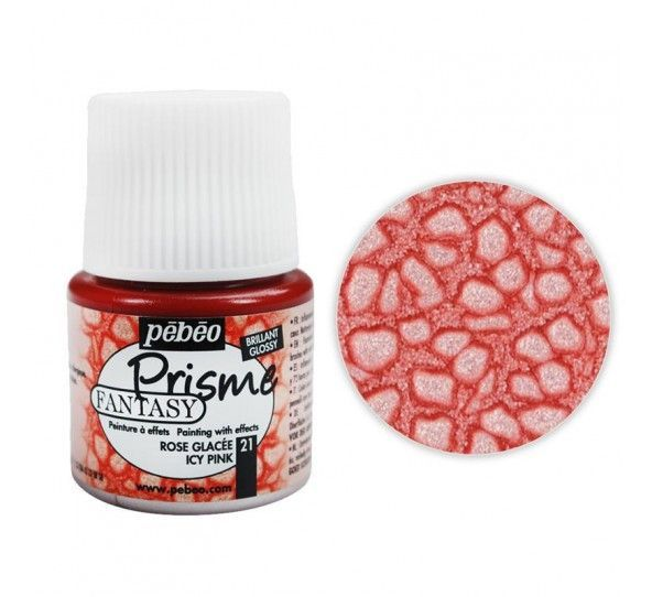 Pebeo Prisme Effect Paint, Icy Pink, 45 ml