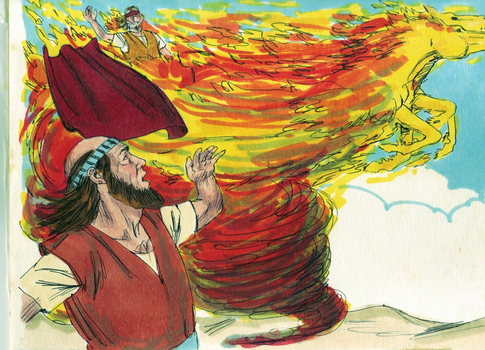 Free coloring pages elijah goes to heaven - Bible Fun For Kids Elijah The Flaming Chariot To Heaven