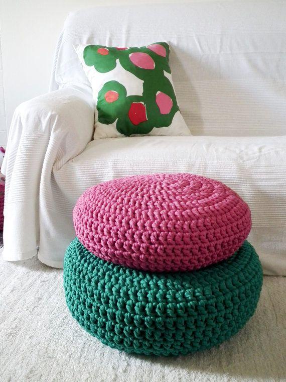 Crochet Floor Cushion Meditation Floor Pillow Seating Stuffed
