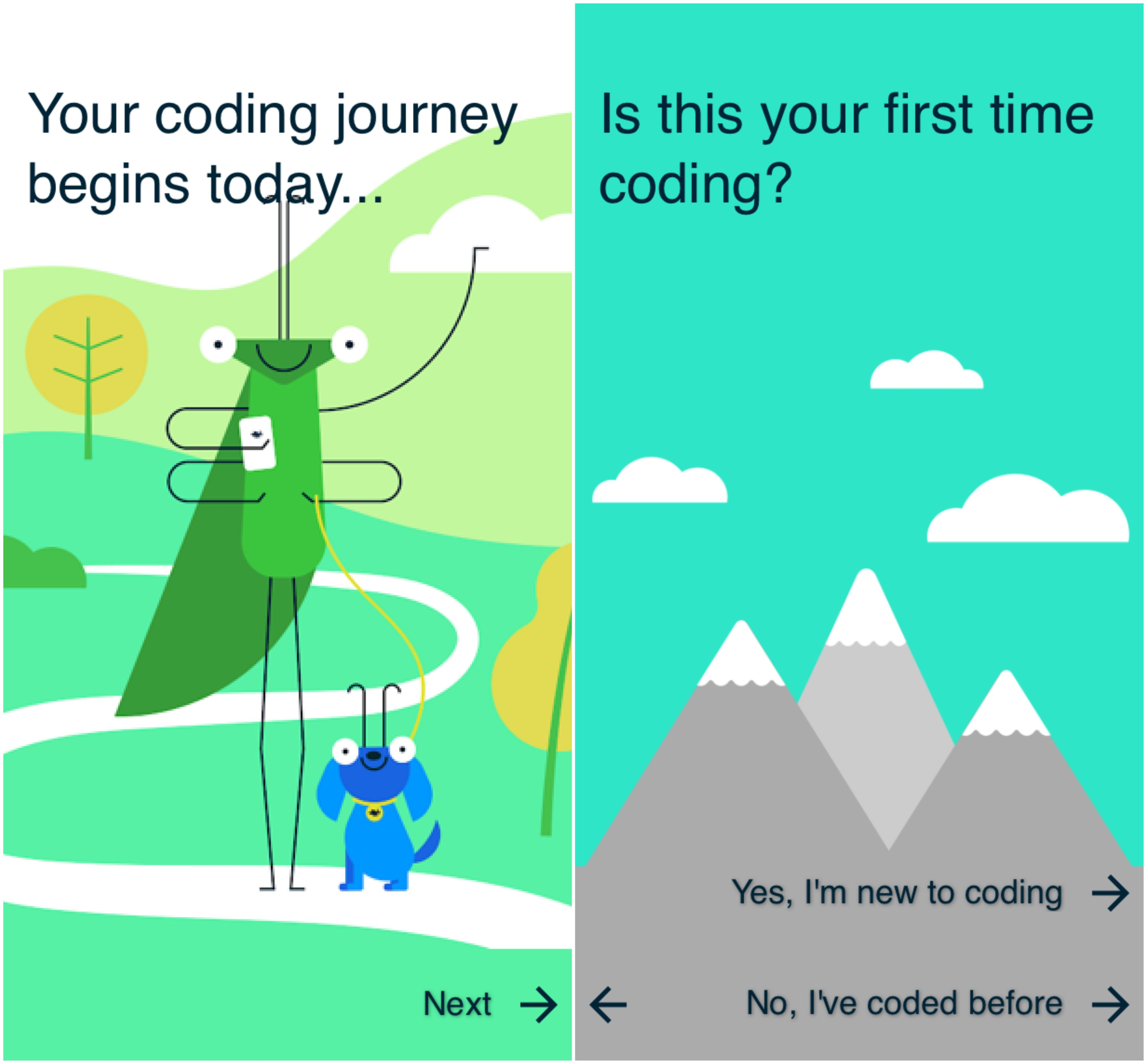 Images from Google Coding apps, Coding, App