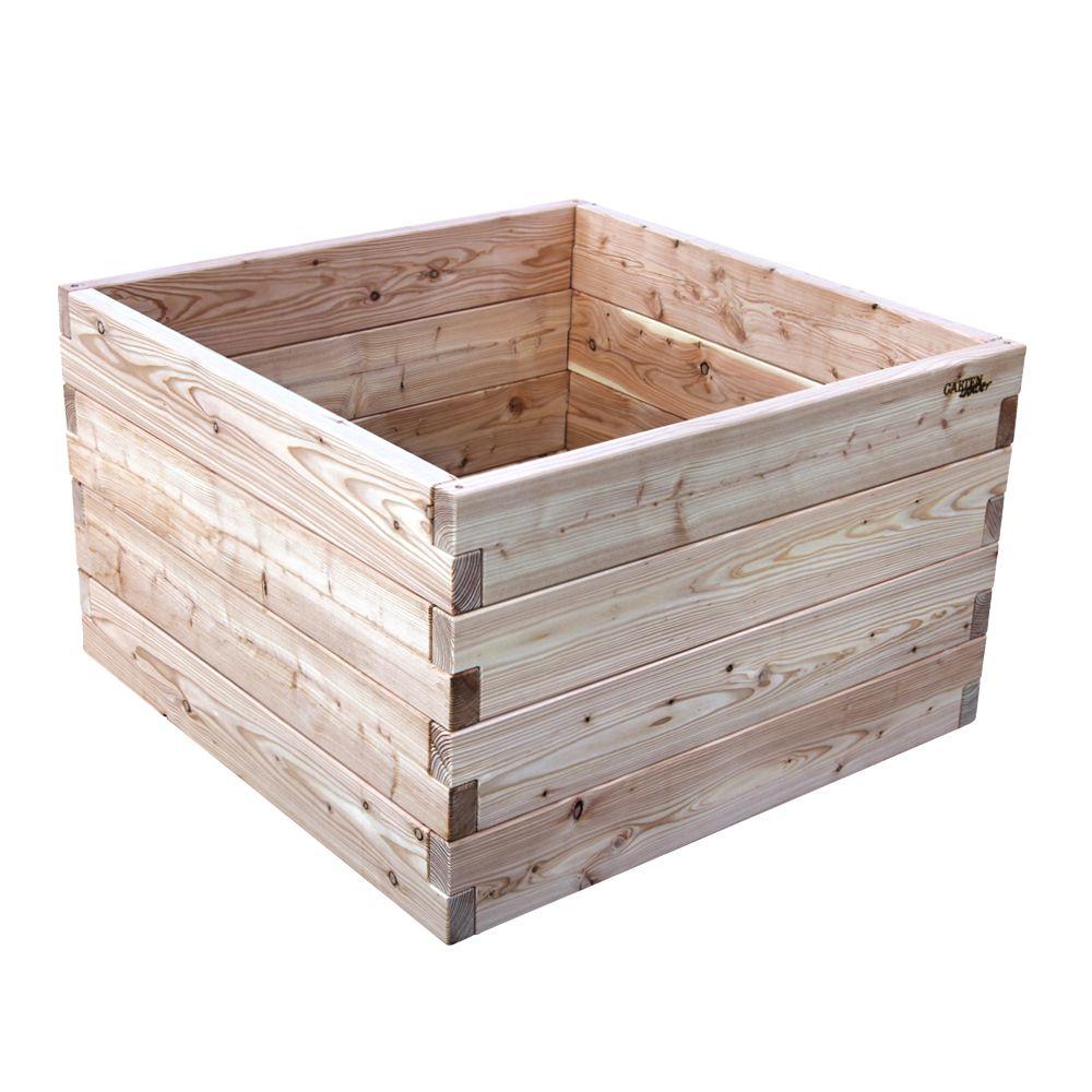 Hochbeet 2 60 Cm Hohe Hochbeet Larchenholz Hochbeet Holz
