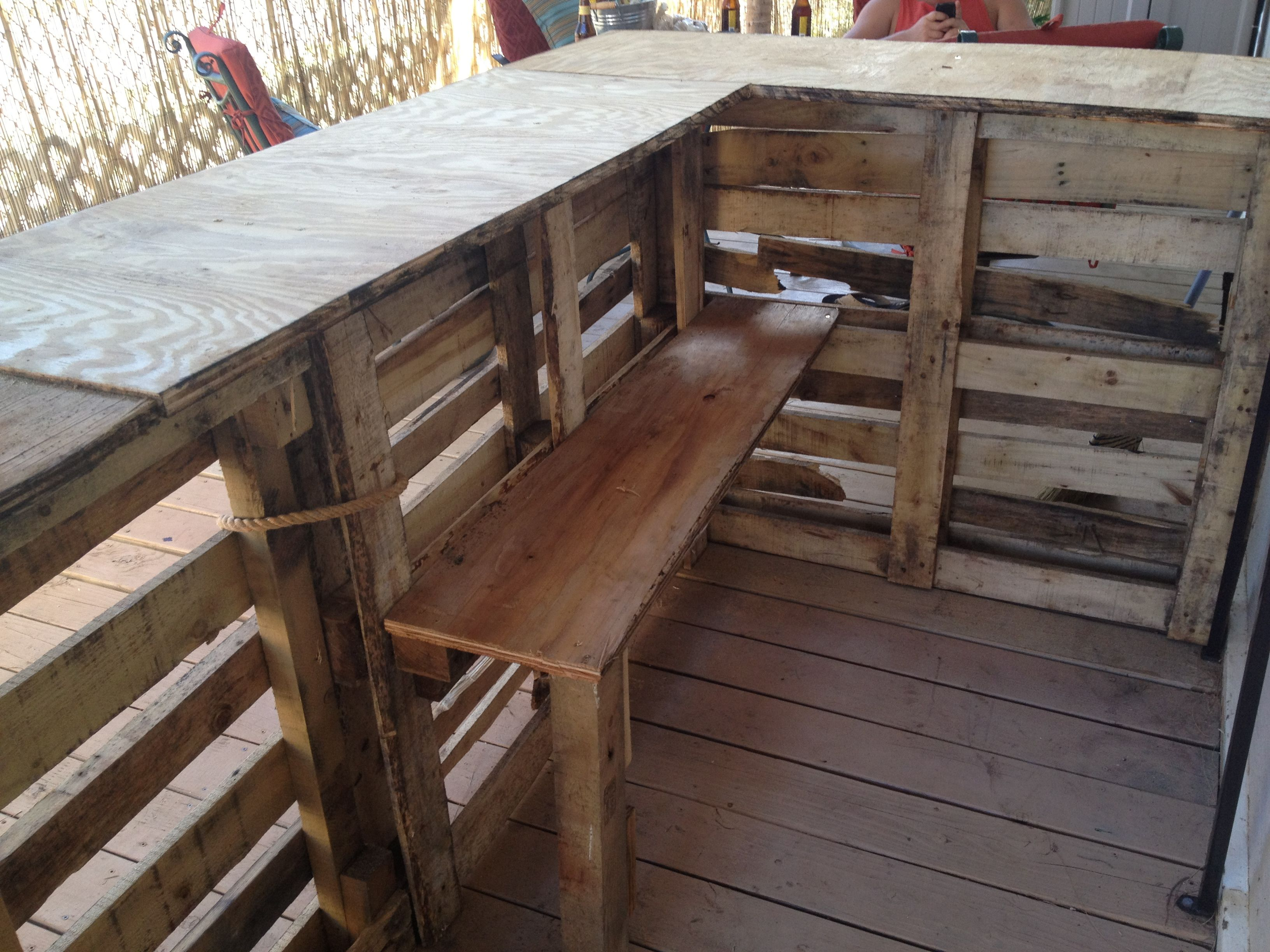 Diy pallet bar ideas and projects pallets bar and for Diy wood bar