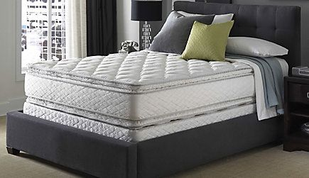 Queen Serta Perfect Sleeper Sapphire Suite Double Sided Pillowtop