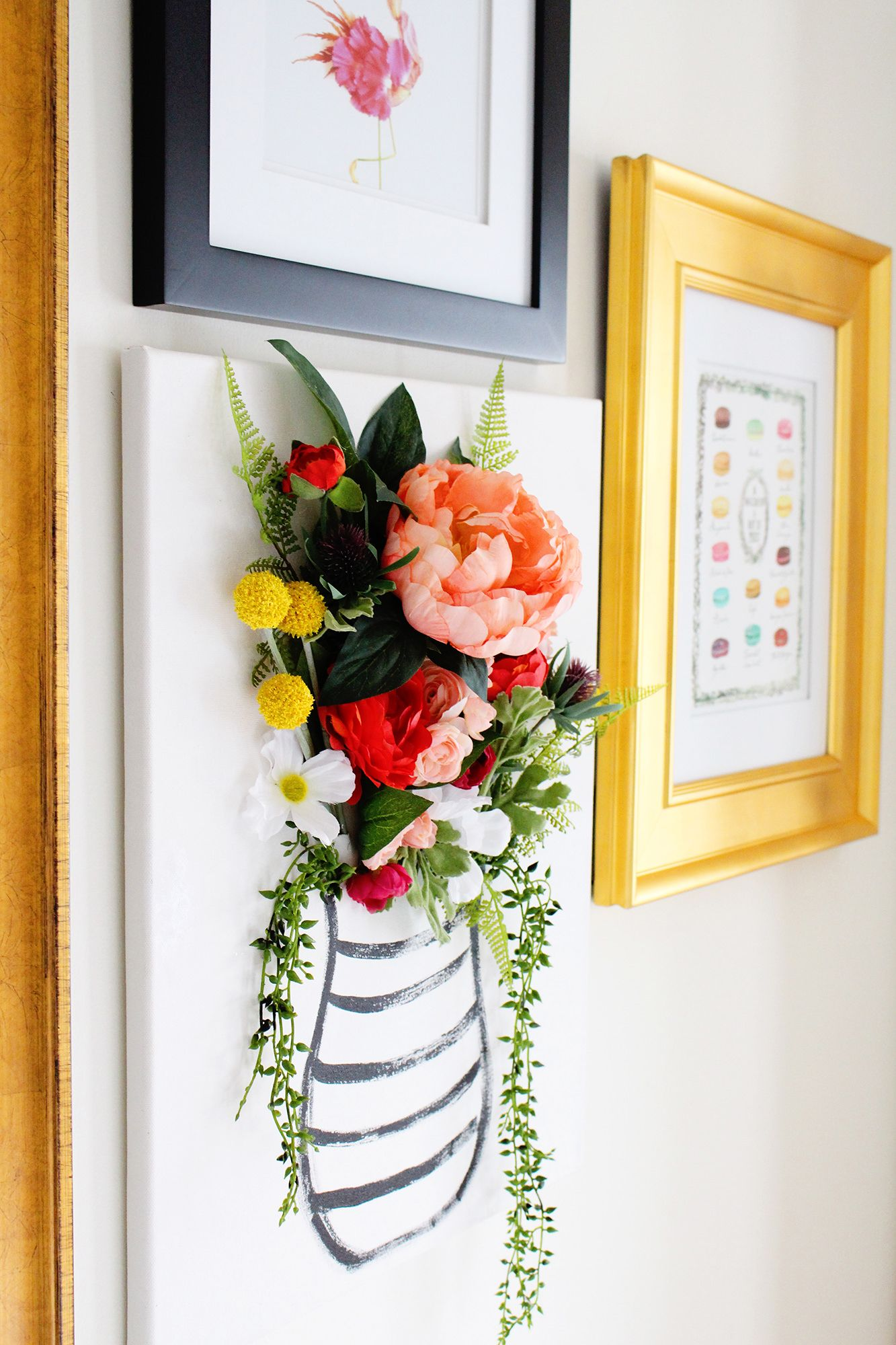 diy 3d flower canvas art part 1