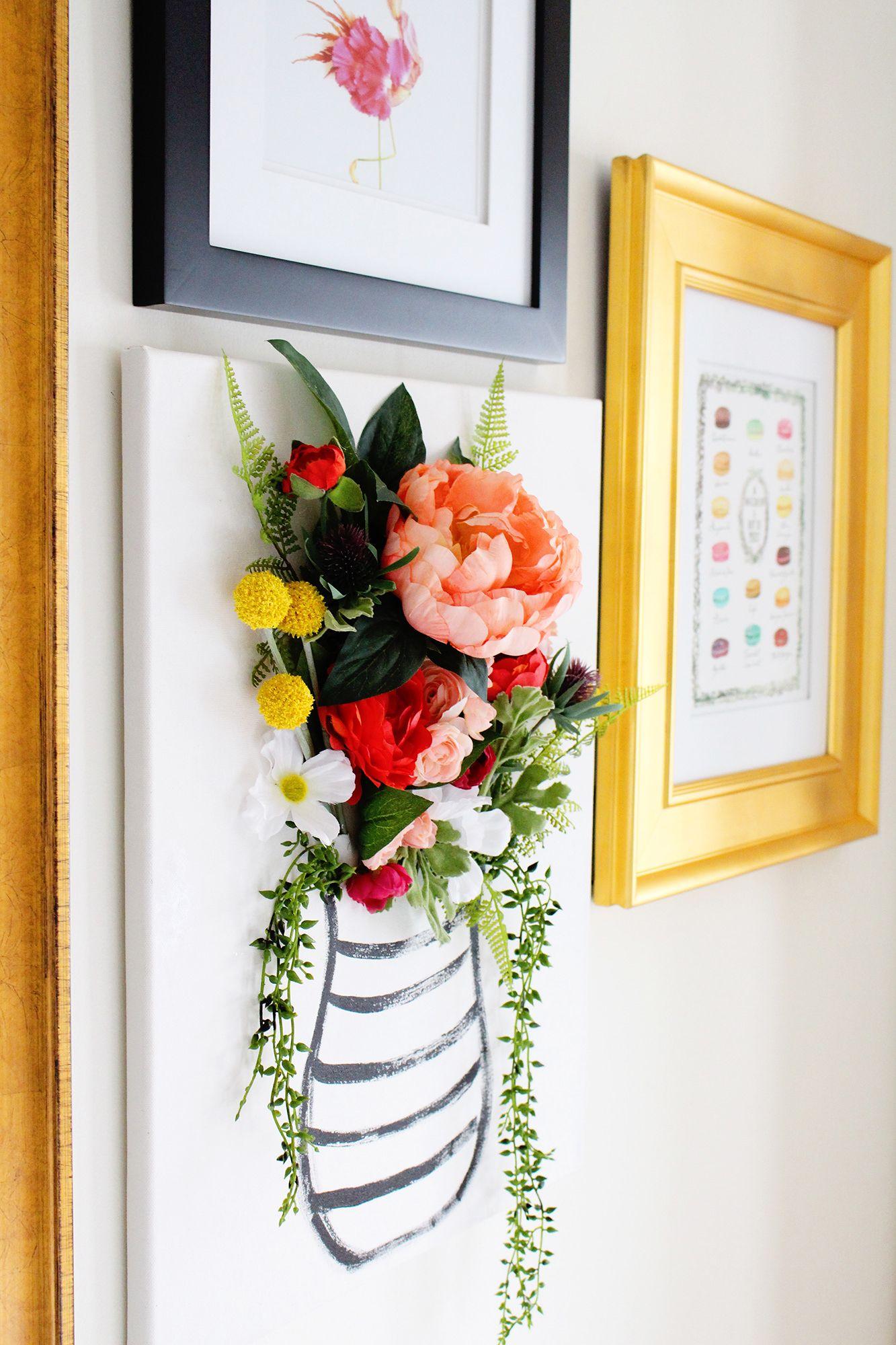 DIY 3 D Flower Canvas Art Part 1 DIY DECOR Pinterest