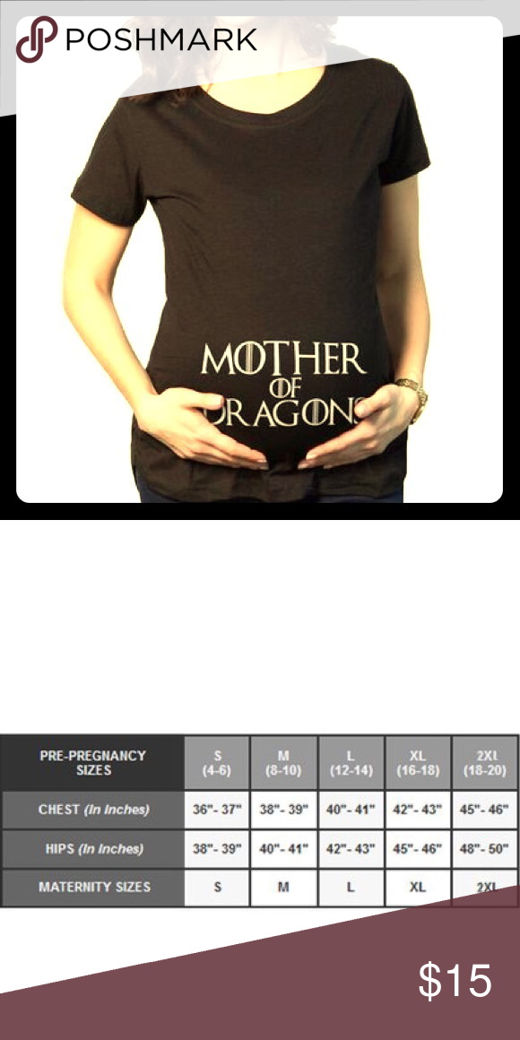 a57bbcfd34f30 Mother of Dragons Maternity Shirt -Game of Thrones Black maternity tee shirt,  white Game if Thrones font. Wording sits on the belly.