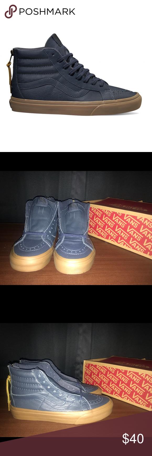752b92c2ce Vans Sk8-Hi Reissue ZIP Vans Sk8-Hi Reissue Zip (hiking) Leather Navy Gum  Women Sz 6.5 New w original box Vans Shoes