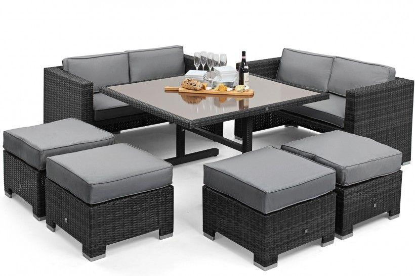 Maze Rattan Sofa Cube Set | Maze Living (£989) | Garden Furniture ...