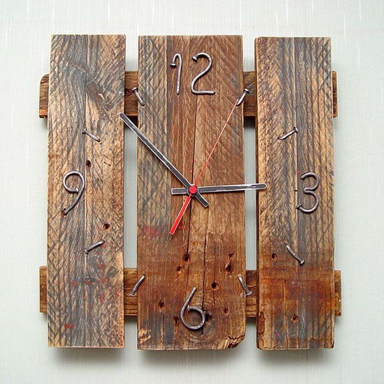 30 Diy Pallet Wood Wall Clock Designs That Easy To Make