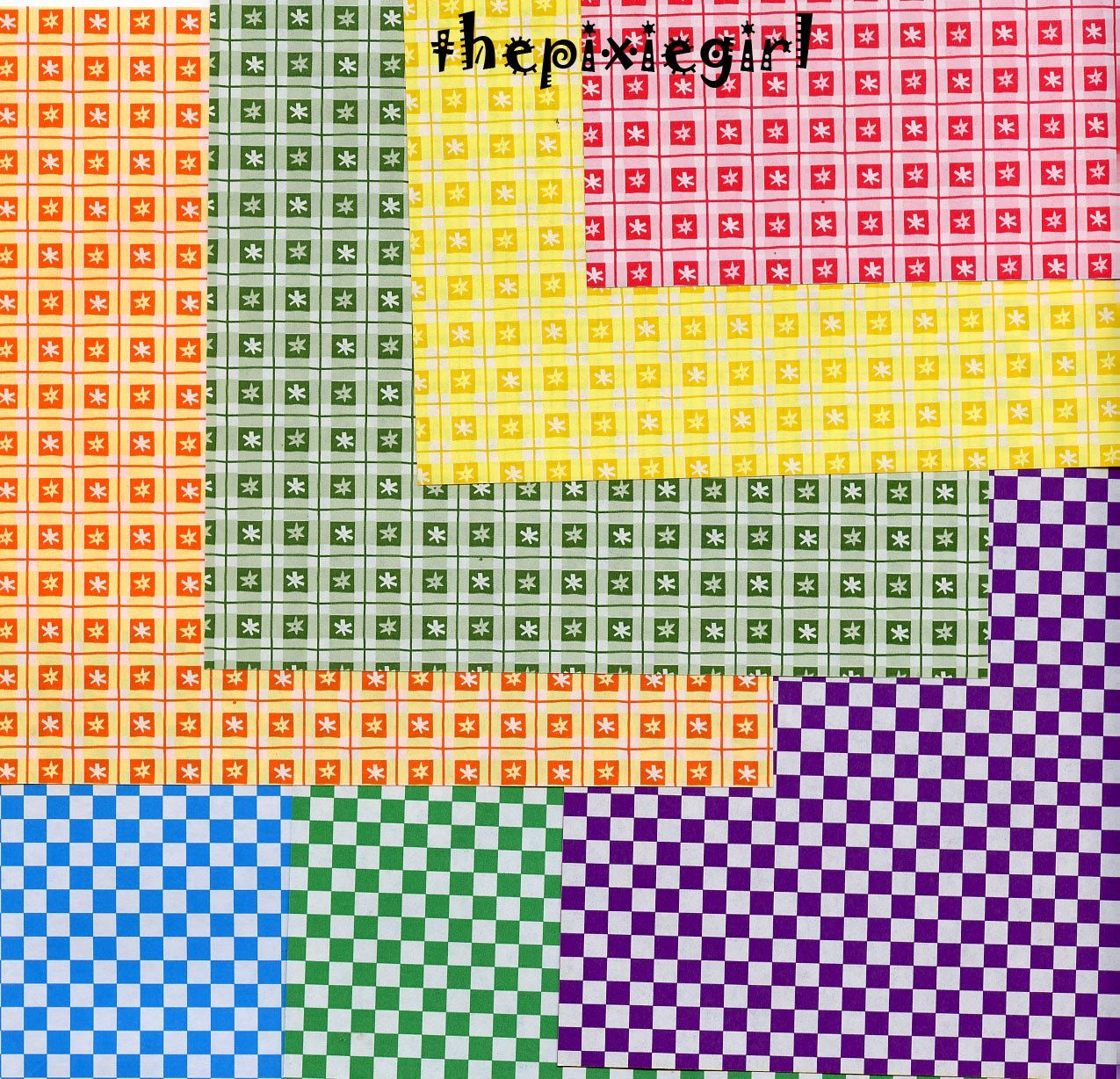 Origami paper checkered double sided sheets cm pinterest