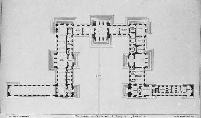 A A Plans Drawings Chateau De Clagny Architectural Floor Plans Floor Plan Drawing Empire Design