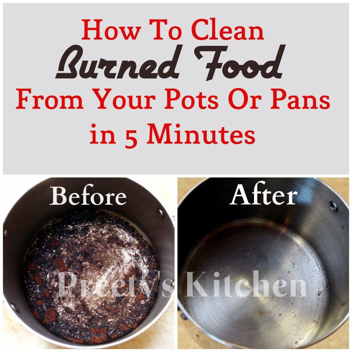 How To Clean Burnt Pans Credainatcon