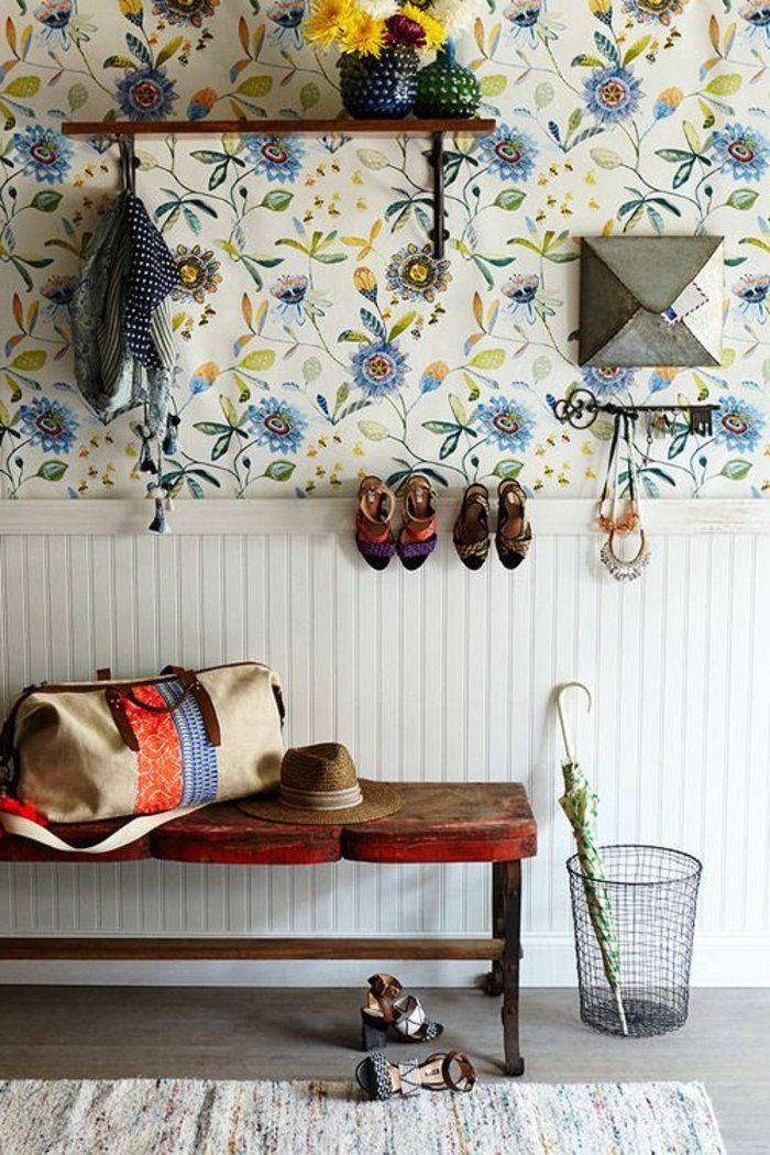 le papier peint en 52 photos pleines d 39 id es d co pinterest papier peint papier et. Black Bedroom Furniture Sets. Home Design Ideas