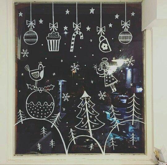20 krétafilces karácsonyi rajz, hogy az ablakok is ünnepeljenek!